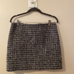 J Crew Tweed Metallic Skirt